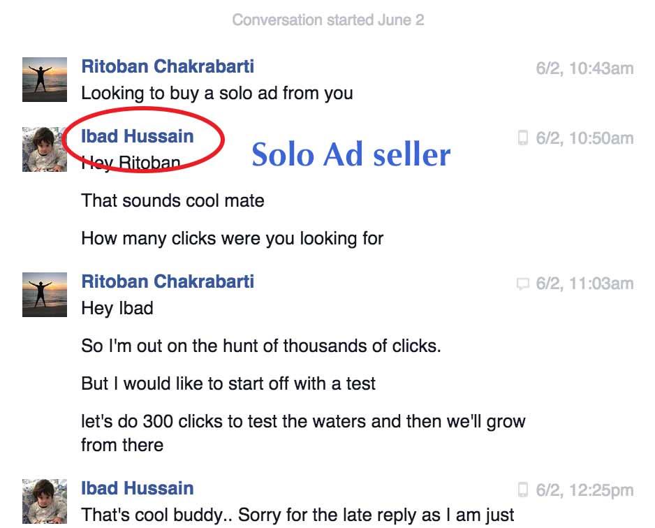 Solo Ads FB Message