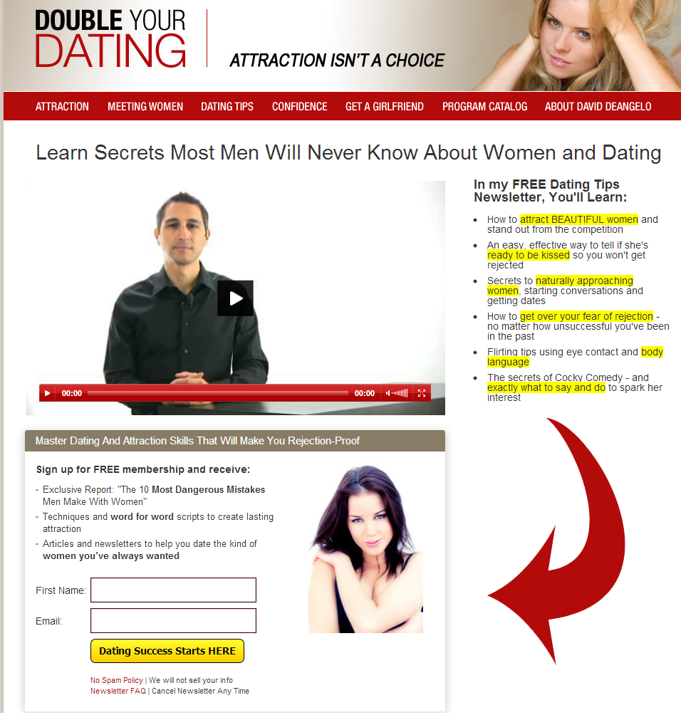A Dating Landing Page Example