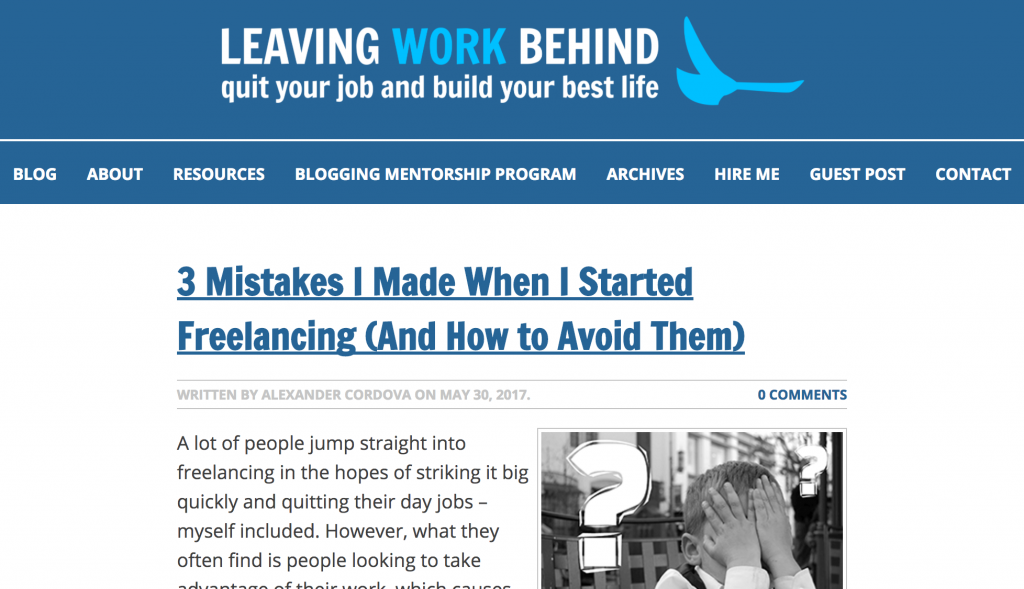 leaving your work behind blog