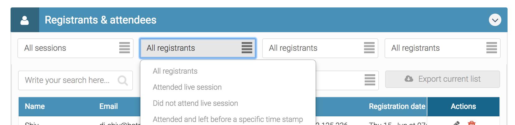 registrants data