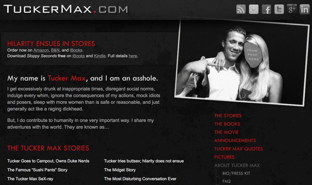 tucker max website