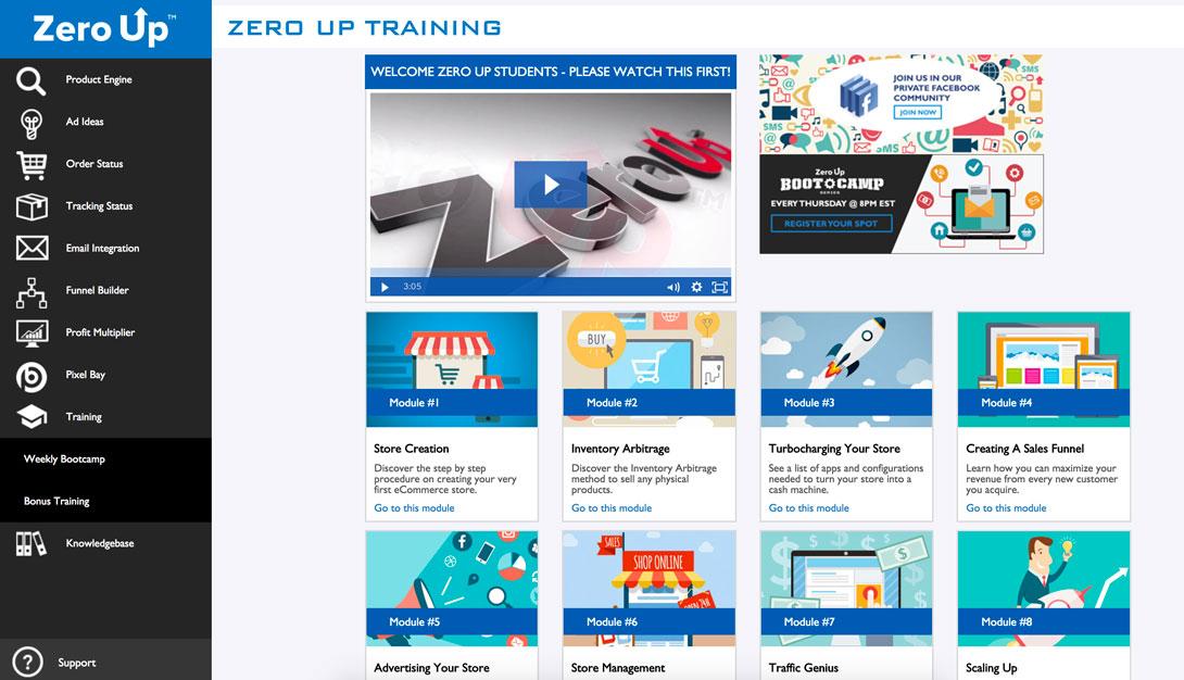 zero up training library