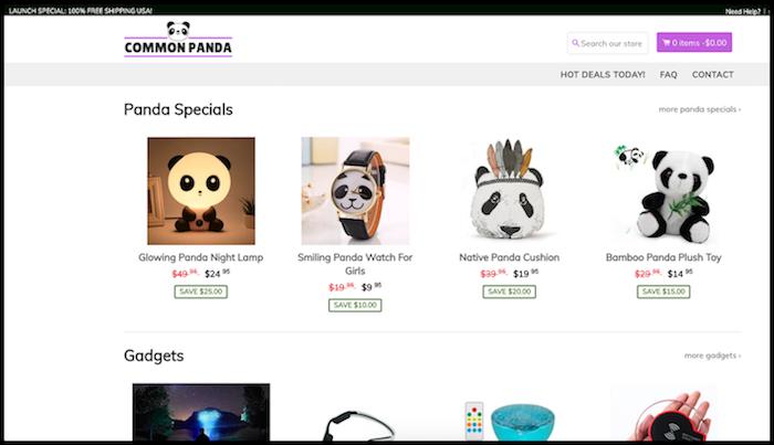 CommonPanda Shopify Store