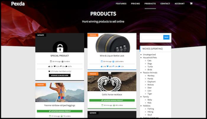 Pexda Product Page