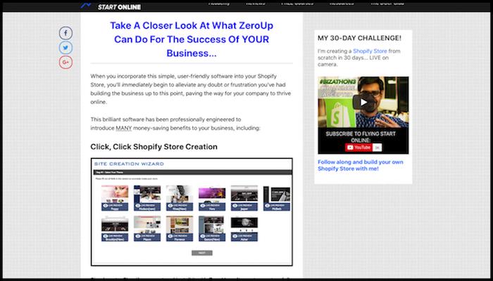 ZeroUp Review Example How Websites Make Money