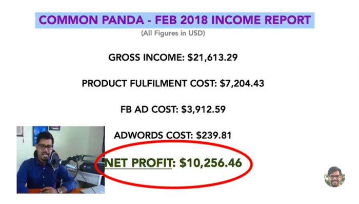 Common Panda Monthly Income Report Totals