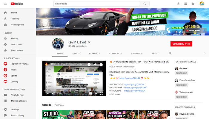Kevin David Legit Shopify YouTuber