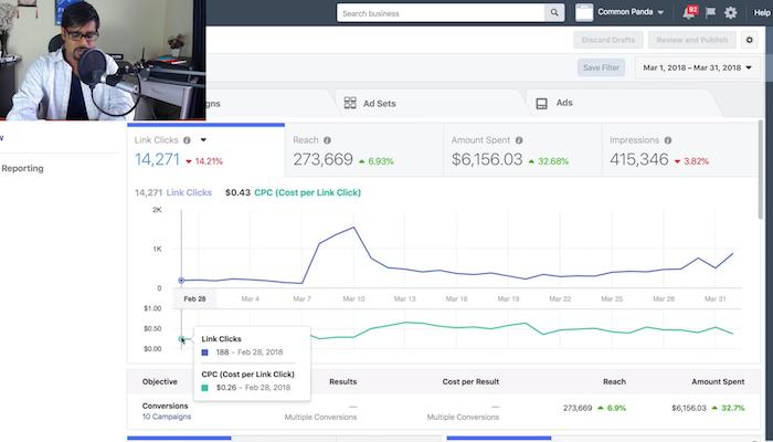 Common Panda Facebook Advertising Costs Increase Example
