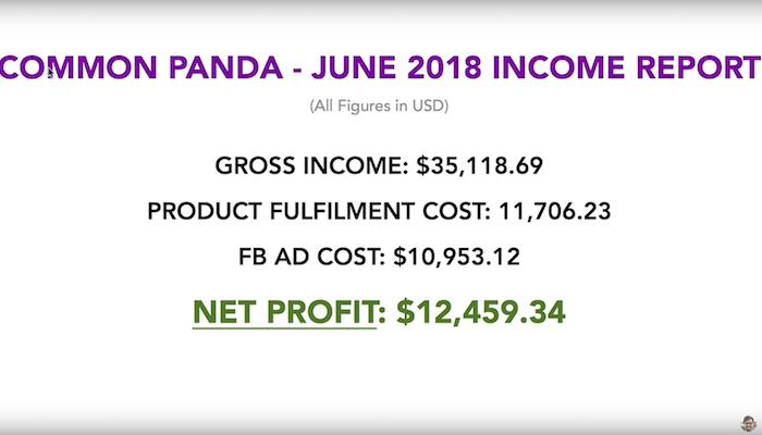June 2018 Income Report Net Profit