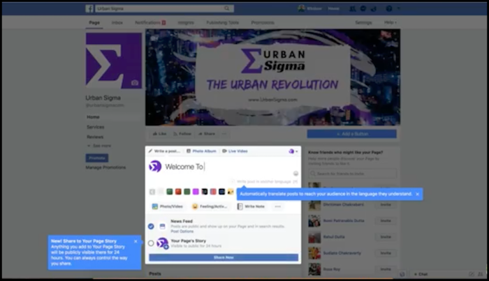 UrbanSigma Facebook Page Connect To Shopify Store for Facebook Ads