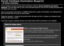 Secret Clickbank Domination Blueprint