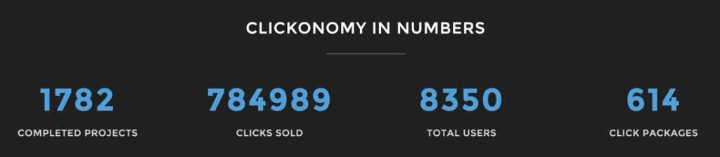Clickonomy Numbers