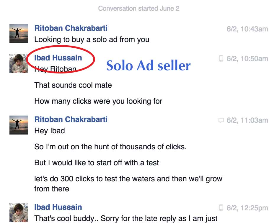 Solo Ads FB Message