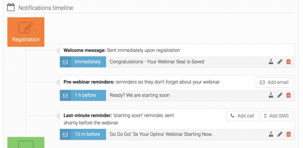 everwebinar pre-webinar emails