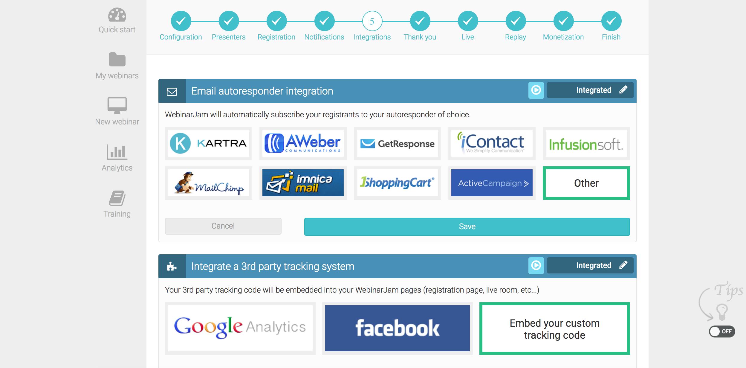 autoresponder tracking webinar