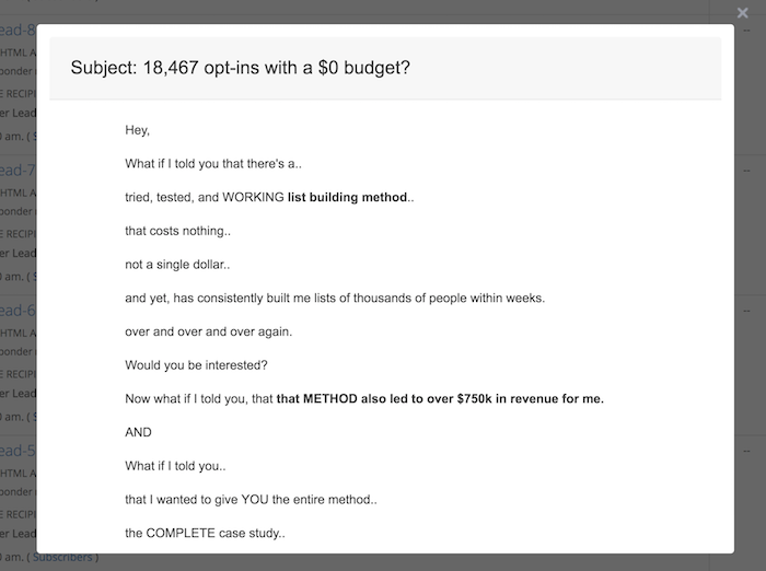 18,467 Opt Ins With A $0 Budget (Day 2)