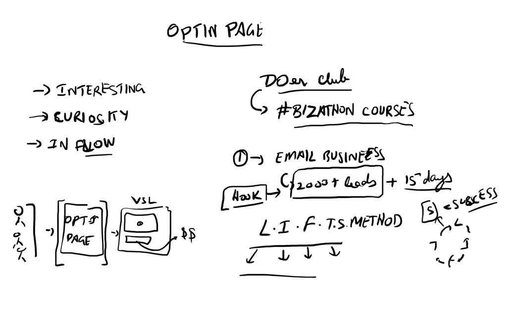 membership funnel optin page