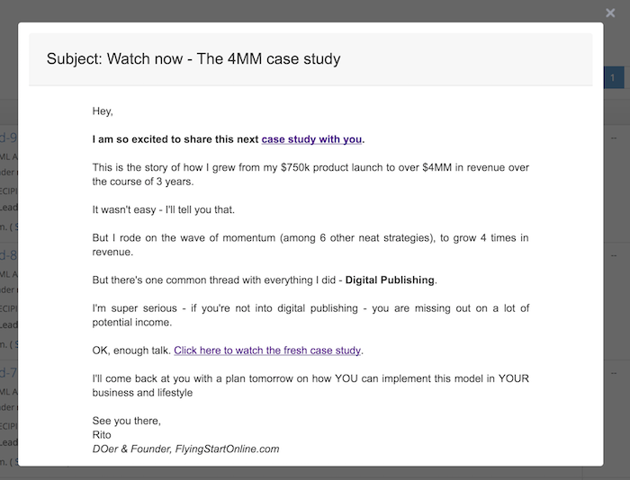 Rito Email - 4MM Case Study (Day 1)