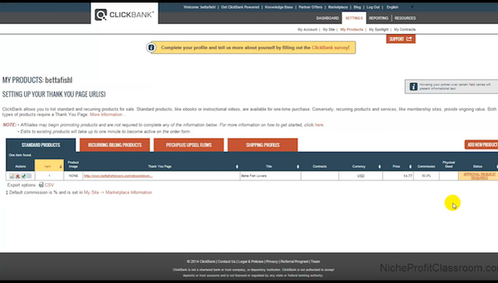ClickBank-Product-Approval-Page