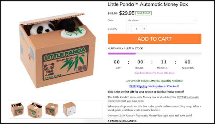 Little Panda Money Box Shopify Store Product