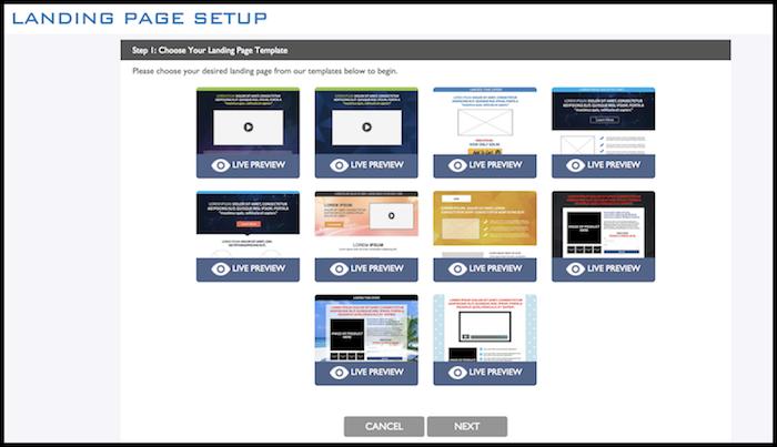 ZeroUp Landing Page Setup