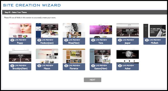 ZeroUp Site Wizard