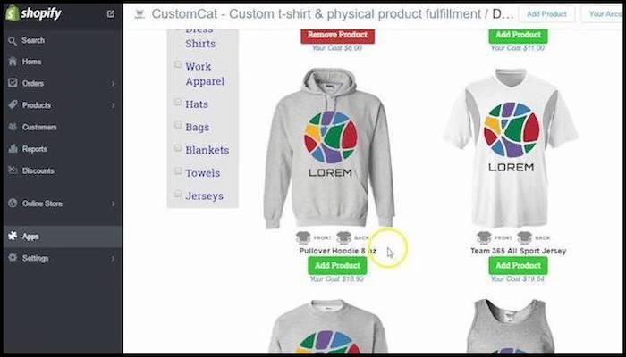 CustomCat Print On Demand Product Listing Example