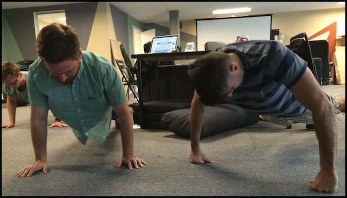 Team Pushups Entrepreneurship