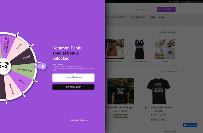 CommonPanda eCommerce Website Implementing A Unique Call To Action