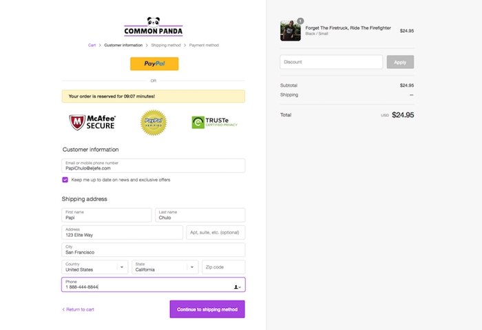 Converting Shopify Checkout Page