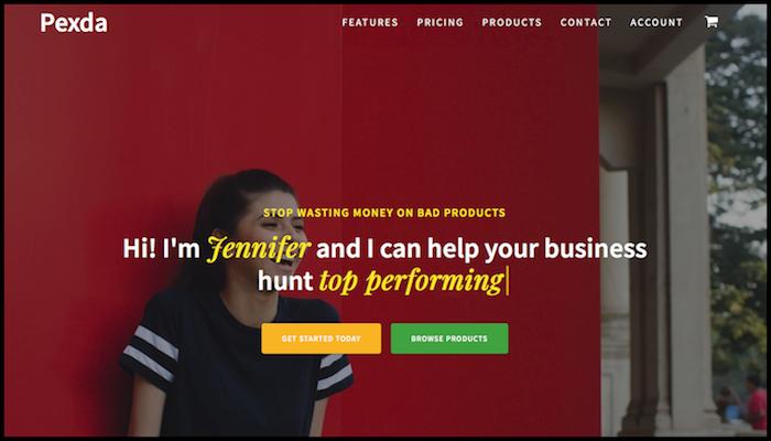 pexda homepage