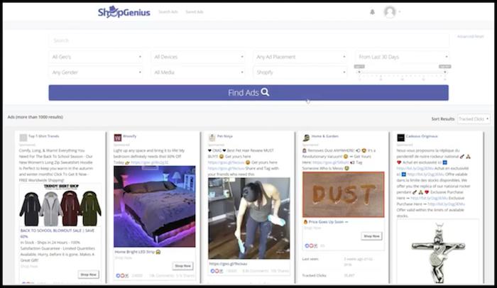 Shop Genius Home Page