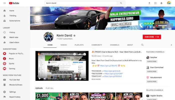 Kevin David Legit Shopify YouTuber