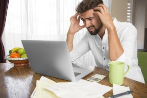 Stressed Out Entrepreneur Trying To Cope With End of Quarter Facebook Advertising Costs