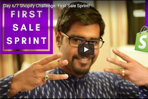 Shopify Challenge First Sale Sprint Day 6